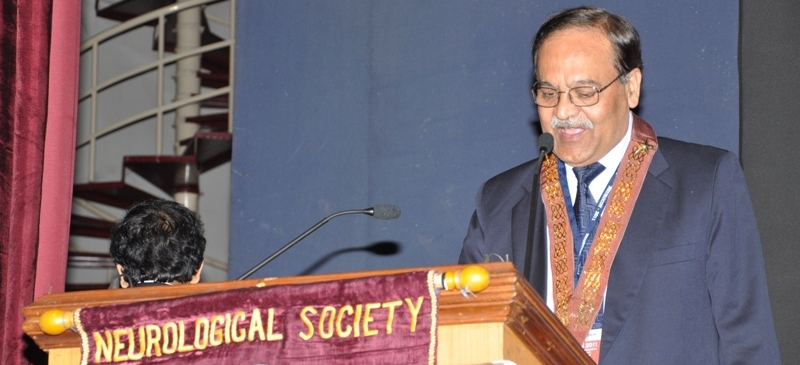 Dr V K Jain as President of Neurological Society (India)